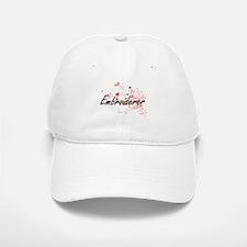 Embroiderer Artistic Job Design with Hearts Baseball Baseball Cap
