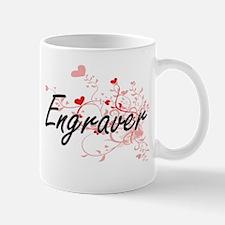Engraver Artistic Job Design with Hearts Mugs