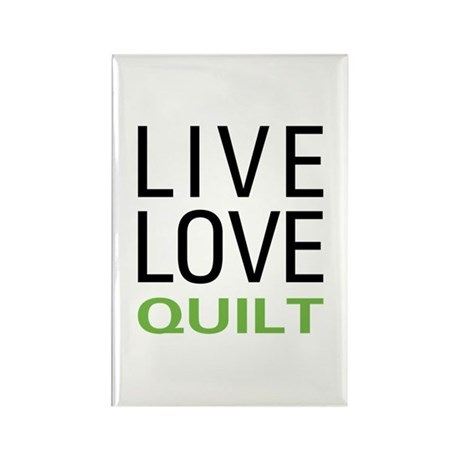 Live Love Quilt Rectangle Magnet (10 pack)