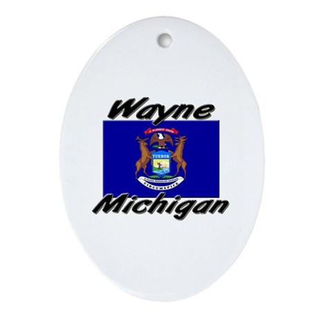 Wayne Michigan Oval Ornament