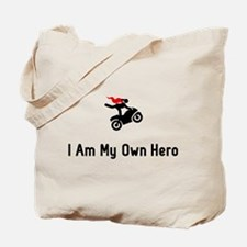 Stunt Riding Hero Tote Bag