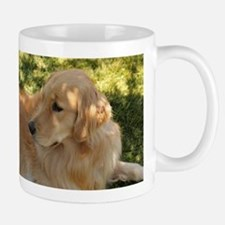 golden retriever grass Mugs