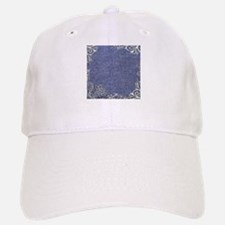 swirls western country blue denim Baseball Baseball Cap
