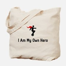 Unicycling Hero Tote Bag