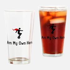 Unicycling Hero Drinking Glass