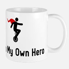 Unicycling Hero Mug