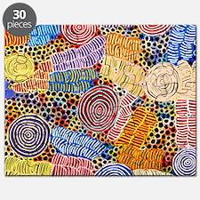 AUSTRALIAN ABORIGINAL ART IN CIRCLES Puzzle
