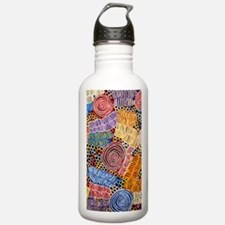 AUSTRALIAN ABORIGINAL ART IN CIRCLES Water Bottle