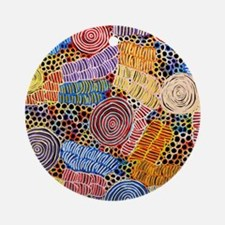 AUSTRALIAN ABORIGINAL ART IN CIRCLES Round Ornamen
