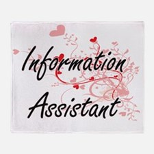 Information Assistant Artistic Job D Throw Blanket