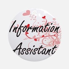 Information Assistant Artistic Job Round Ornament