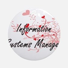 Information Systems Manager Artisti Round Ornament