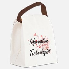 Information Technologist Artistic Canvas Lunch Bag