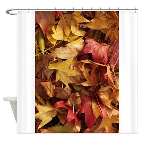 Fall Leaves Foliage Shower Curtain