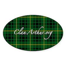 Clan Arthur - Just Tartan Oval Decal