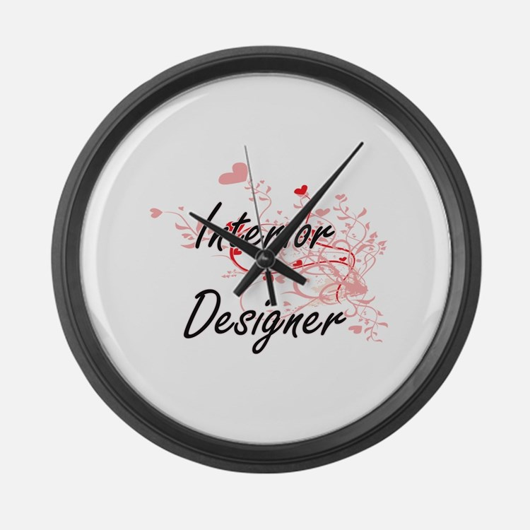 Interior Designer Artistic Job De Large Wall Clock