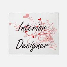 Interior Designer Artistic Job Desig Throw Blanket