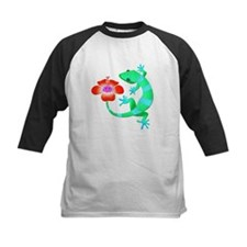 Blue and Green Jungle Lizard with Baseball Jersey
