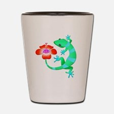 Blue and Green Jungle Lizard with Orang Shot Glass