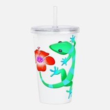 Blue and Green Jungle Acrylic Double-wall Tumbler