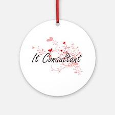 It Consultant Artistic Job Design w Round Ornament
