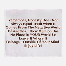 Opinions Aren't Truth Throw Blanket