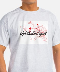 Ophthalmologist Artistic Job Design with H T-Shirt