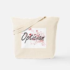 Optician Artistic Job Design with Hearts Tote Bag