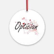 Optician Artistic Job Design with H Round Ornament