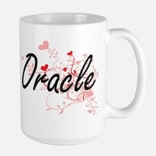 Oracle Artistic Job Design with Hearts Mugs