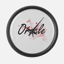 Oracle Artistic Job Design with H Large Wall Clock