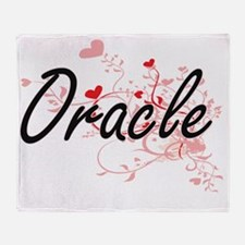 Oracle Artistic Job Design with Hear Throw Blanket