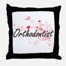 Orthodontist Artistic Job Design with Throw Pillow