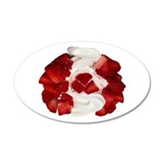 Canada Flag Ice Cream 20x12 Oval Wall Decal