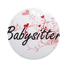 Babysitter Artistic Job Design with Round Ornament