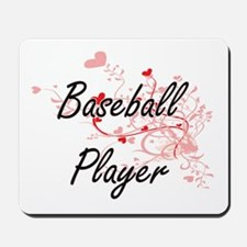 Baseball Player Artistic Job Design with Mousepad
