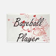 Baseball Player Artistic Job Design with H Magnets