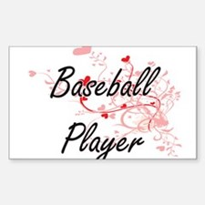 Baseball Player Artistic Job Design with H Decal