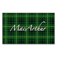 Clan Arthur - Just Tartan Rectangle Decal