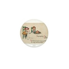 vintage thanksgiving Mini Button (10 pack)