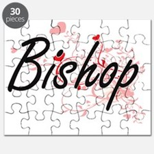 Bishop Artistic Job Design with Hearts Puzzle