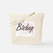 Bishop Artistic Job Design with Hearts Tote Bag