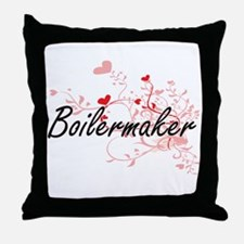 Boilermaker Artistic Job Design with Throw Pillow