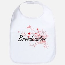 Broadcaster Artistic Job Design with Hearts Bib