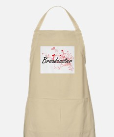 Broadcaster Artistic Job Design with Hearts Apron