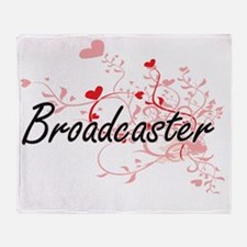 Broadcaster Artistic Job Design with Throw Blanket