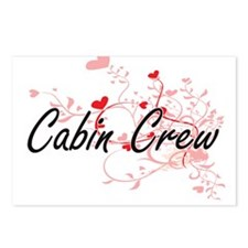 Cabin Crew Artistic Job D Postcards (Package of 8)