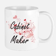 Cabinet Maker Artistic Job Design with Hearts Mugs