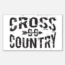 cross country Bumper Stickers