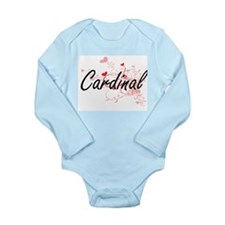 Cardinal Artistic Job Design with Hearts Body Suit